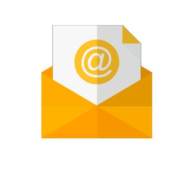 Invio newsletter, busta, lettera, email, posta elettronica